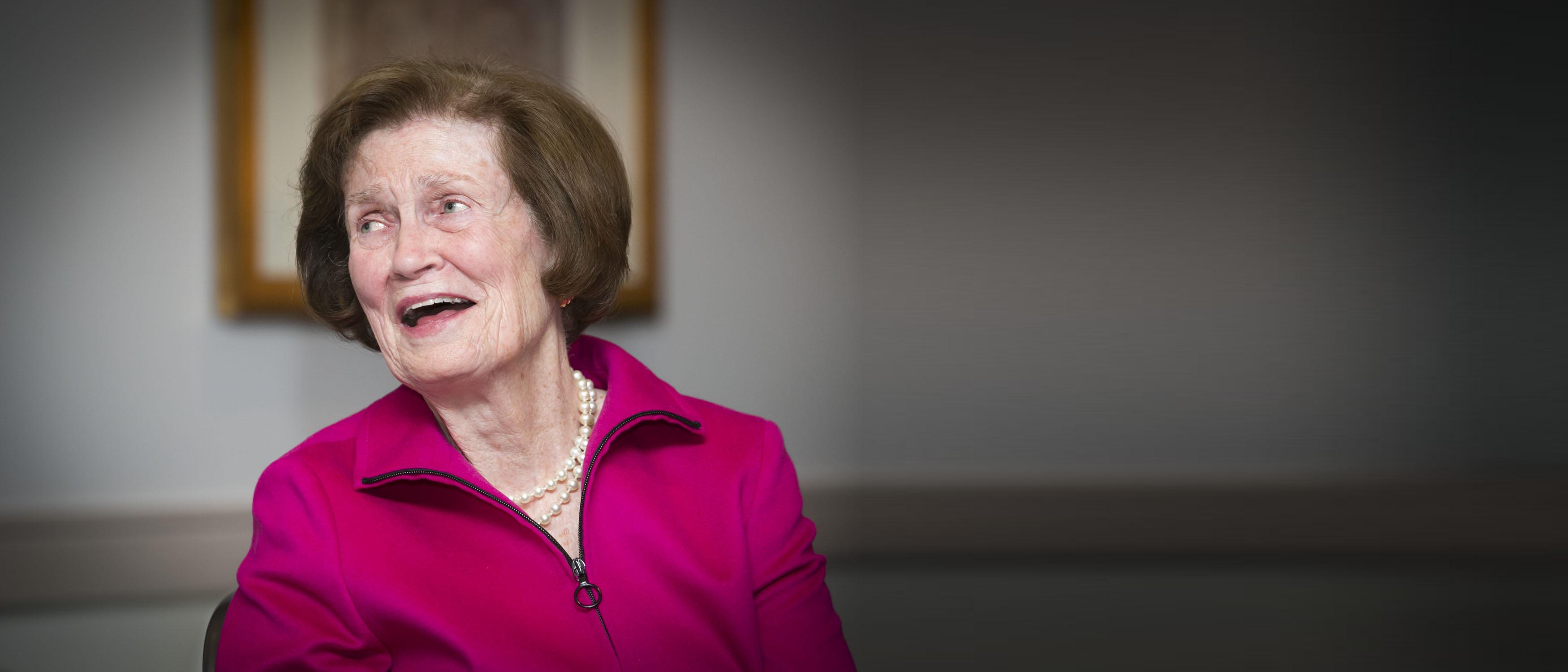 Agnes Williams smiling