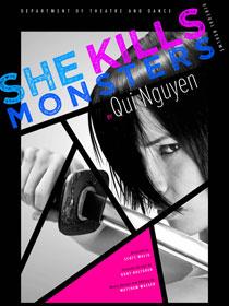 """""""She Kills Monsters"""" poster"""