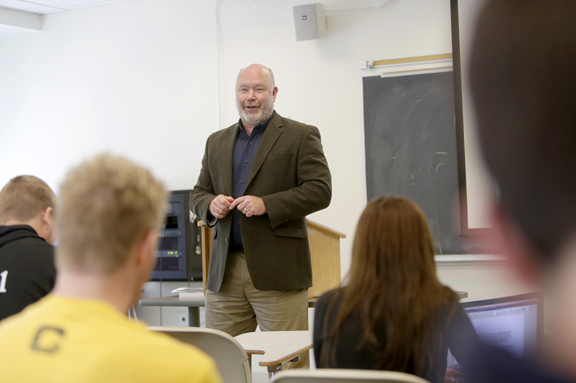Loren Cass, professor of political science and dean of experiential learning and student success, received the 2016 Holy Cross Distinguished Teaching Award.