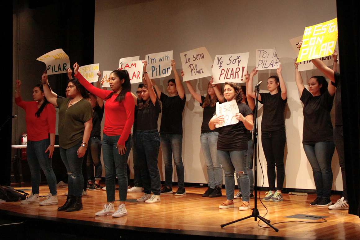 Members of Uni2Act perform in Seelos Theatre.