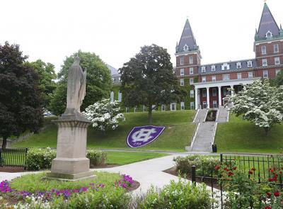 A photo of the Holy Cross campus