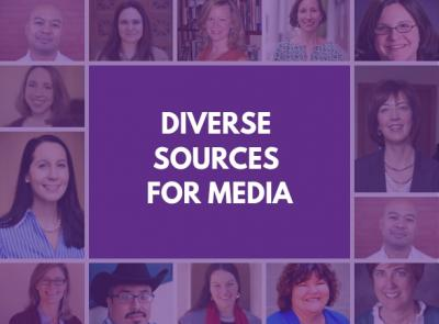 Headshots of diverse faculty members available for comment on media stories.