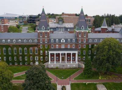 aerial view of fenwick hall