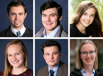 portraits of the six fulbright recipients