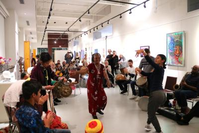 Fall 2018 Arts Transcending Borders event at the JMAC PopUp space in Worcester