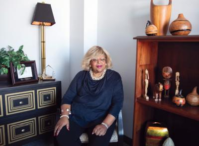 Mable Millner sits in her office
