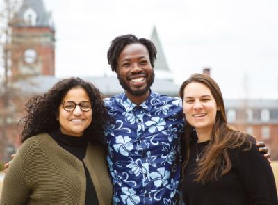 Michelle Rosa Martins, Chris Campbell '15 and Amie Archambault are the new-but-familiar faces joining the Office of Multicultural Education.