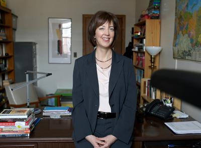 Cynthia Hooper, associate professor of history and director of Russian and Eastern European Studies. Photo by Tom Rettig