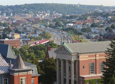 City of Worcester seen here from the Holy Cross campus. Photo by Tom Rettig