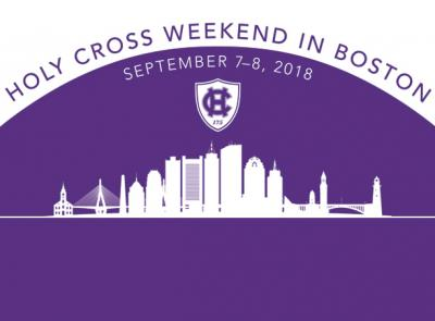 Boston skyline with copy: Holy Cross Weekend in Boston, Sept. 7-8, 2018