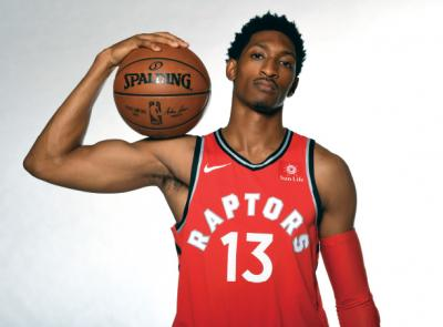 Malcolm Miller '15 of the Toronto Raptors poses for a portrait during Media Day on Sept. 25, 2017, at the BioSteel Centre in Toronto, Ontario, Canada