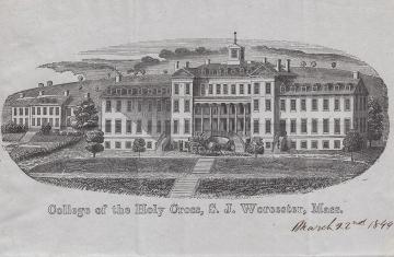 Photo of campus from 1849