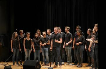 students singing in a capella group