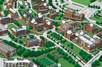 Campus Maps College Of The Holy Cross