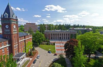 o'kane hall and dinand library aerial