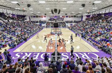 packed hart center basketball arena during men's basketball game