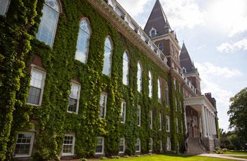 ivy-covered Fenwick Hall