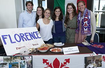 students at an event