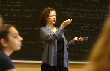 kendy hess in a classroom