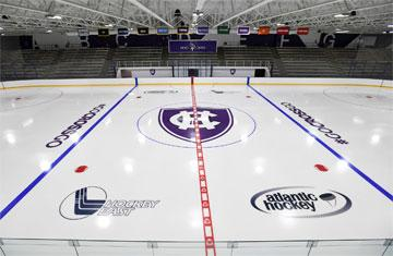 ice hockey rink in hart center at the luth athletic complex
