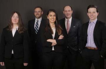 Five students in moot court