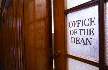 The dean's office – taking in the new girls