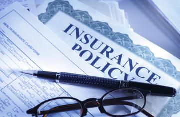 photo of insurance policy paperwork
