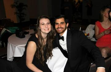 two students at 100 days ball