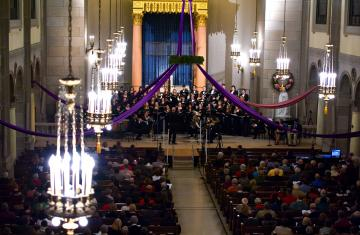 St. Joseph Chapel during Advent Festival of Lessons and Carols