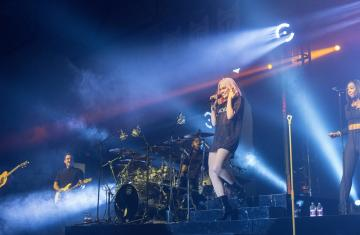 Jessie J performing as part of Spring Concert at Holy Cross