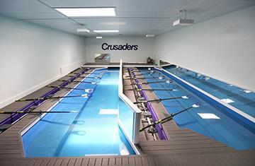 two indoor rowing tanks