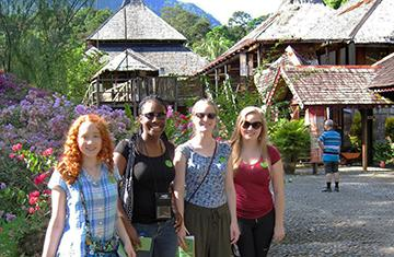 group photos of students studying abroad