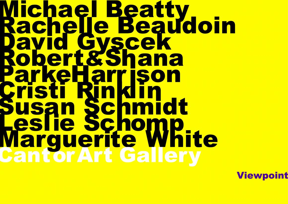 Viewpoint faculty exhibition graphic
