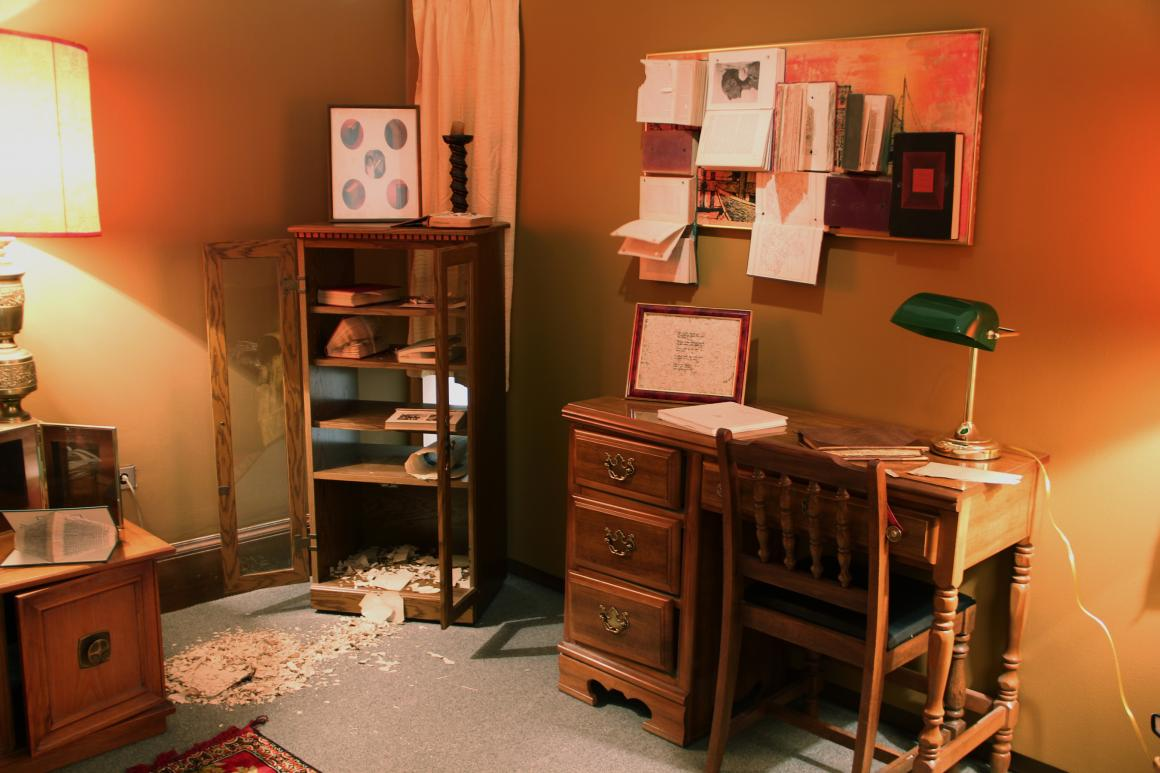 The Reading Room, installation by Taylor Blackwell