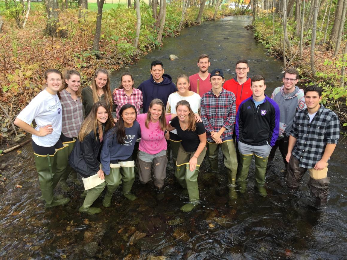 Introduction to Geology class at Kettle Brook Worcester, fall 2017