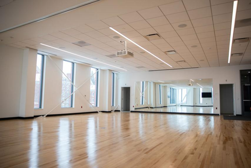 large exercise studio in The Jo