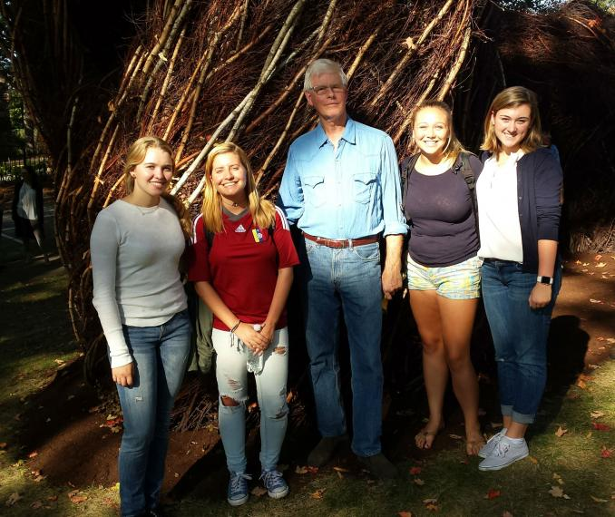 2016-2017 ATB Ambassadors and Artist-in-Residence Patrick Dougherty
