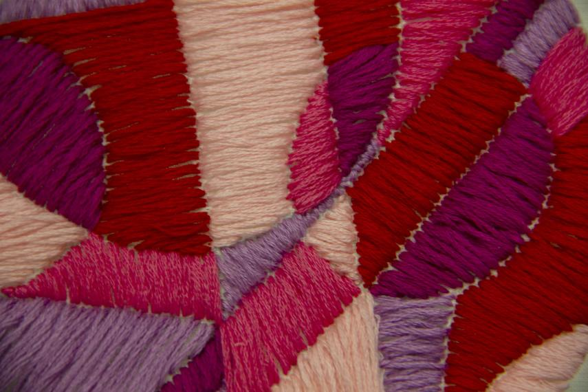 Detail of embroidery piece by Abigail Kostecki