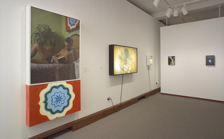 Installation view of works by David Gysek