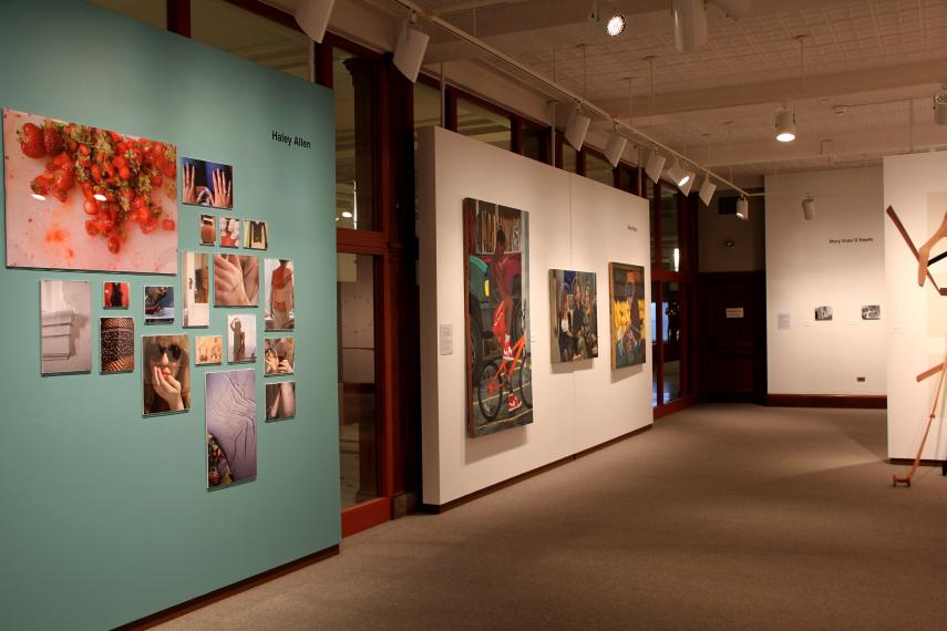 Installation view, pieces by Haley Allen and Brian Blum