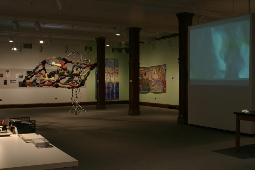 Installation view of Surfacing