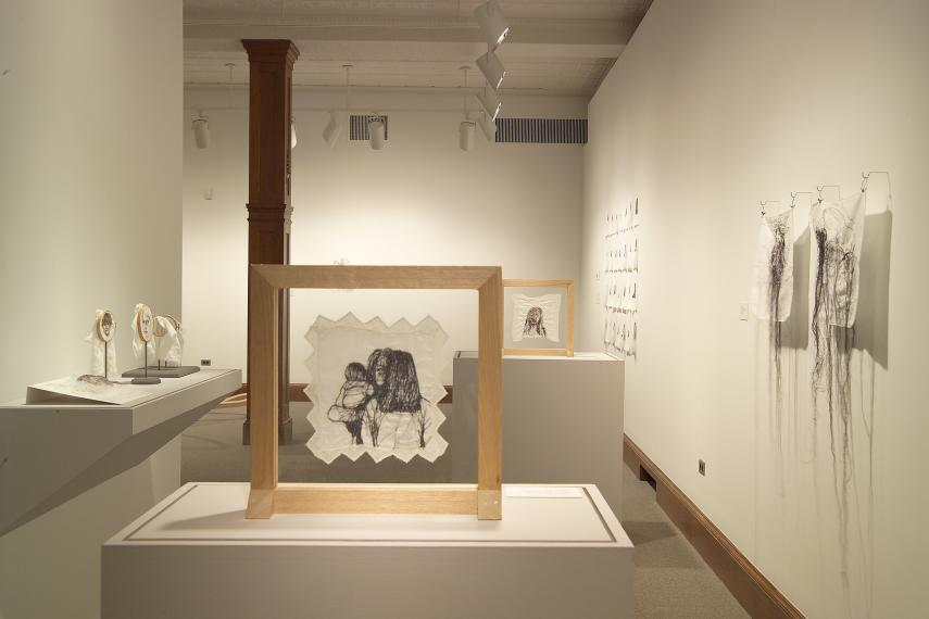 Leslie Schomp and Michael Demers installation view