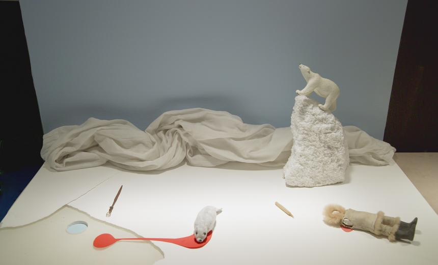 Sculpture diorama installation by Mary Kenny