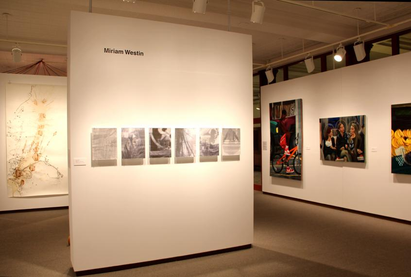 Installation view, pieces by Miriam Westin and Brian Blum