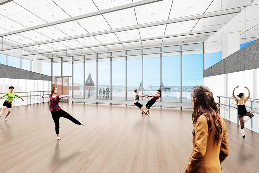 Artist Renderings: Large rehearsal and function space