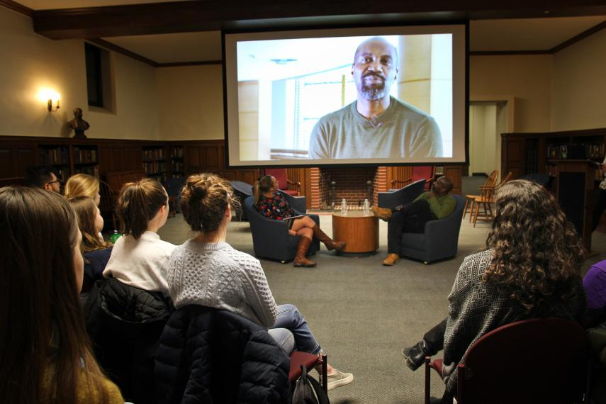 Ronald K. Brown speaks to students