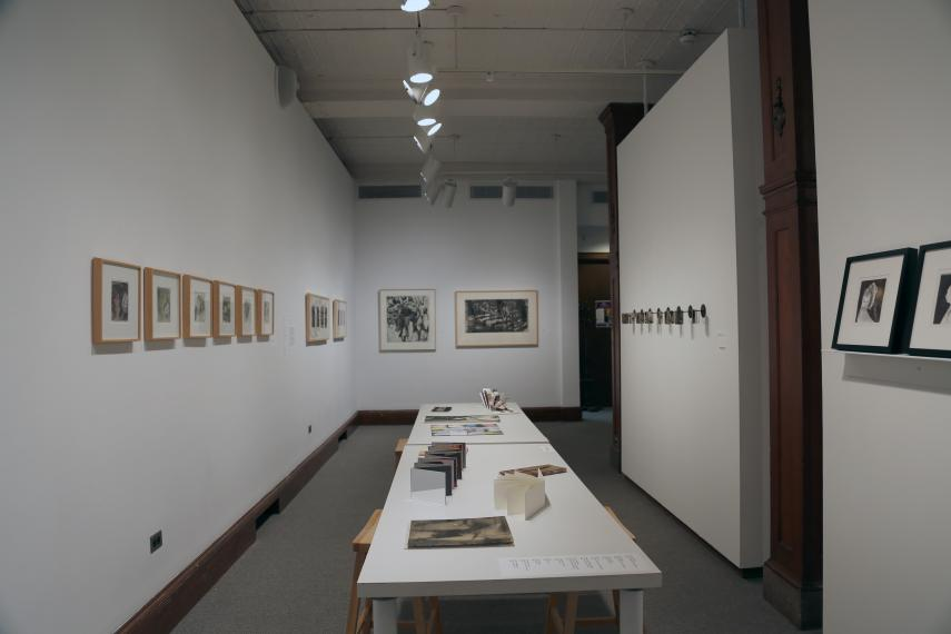 Prints and tables with artist's books